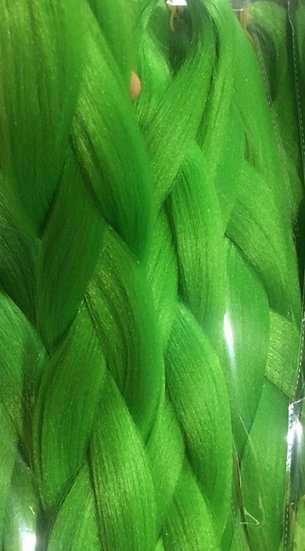 Bright Green Braiding Extensions