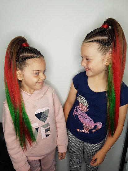 Christmas Tree Ombre Braiding Extensions