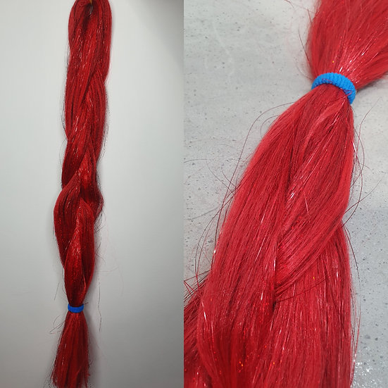 Red Tinsel Braiding Extensions