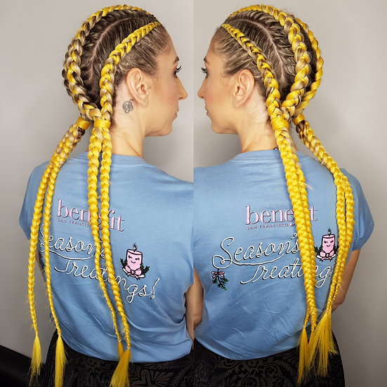 Yellow Braiding Extensions