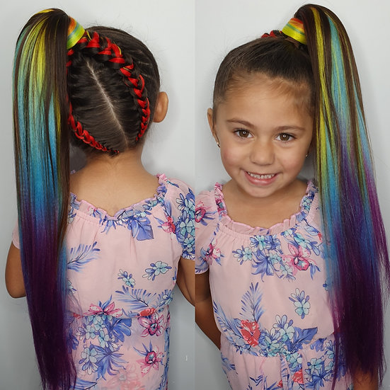 Rainbow Ombre Braiding Extensions