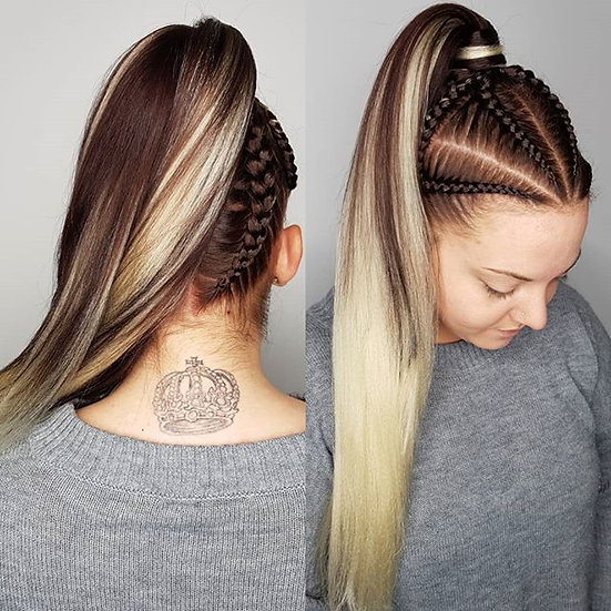 Dark Brown to Light Blonde Ombre Braiding Extensions