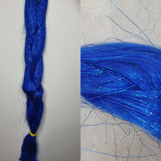 Royal Blue Tinsel Braiding Extensions