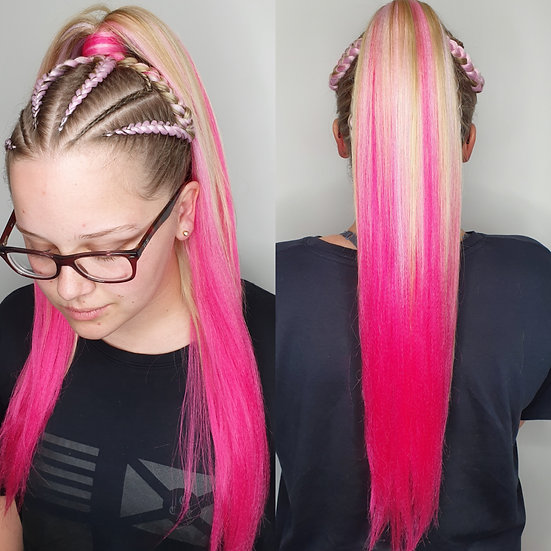 Light to Dark Pink Ombre Braiding Extensions