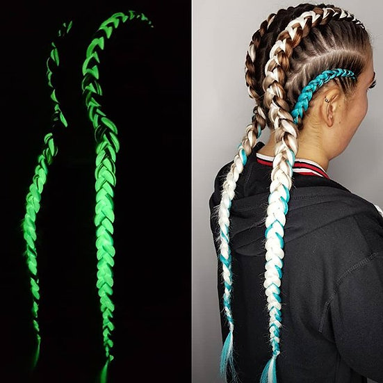 Glow in the Dark Braiding Extensions - White