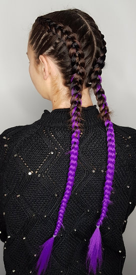 Black to Purple Ombre Braiding Extensions