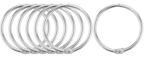 Silver 50mm Chunky Hair Rings - Pack of 10