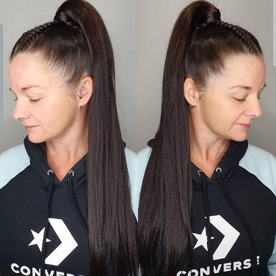 Purple Black Braiding Extensions