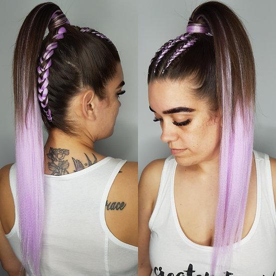 Lavender Braiding Extensions