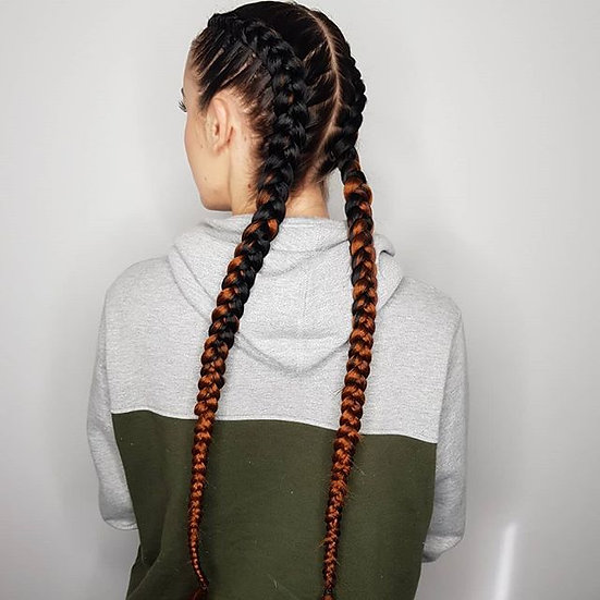 Black to Brown Braiding Extensions