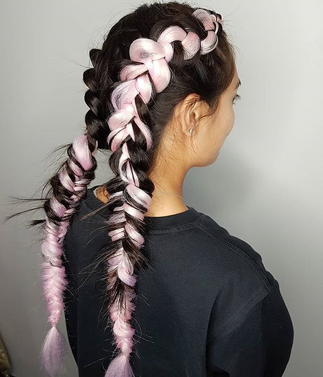 Baby Pink Braiding Extensions