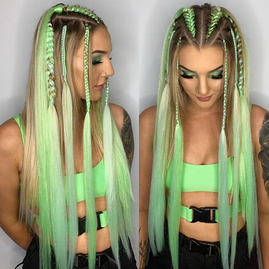 Lime Green Braiding Extensions