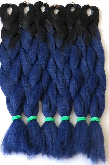 Black to Navy Ombre Braiding Extensions