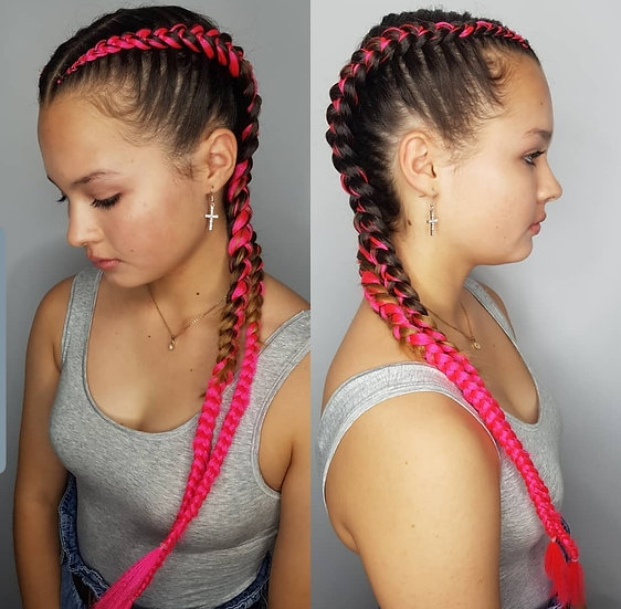 Neon Pink Braiding Extensions