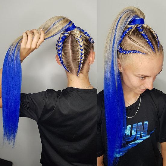 Royal Blue Braiding Extensions