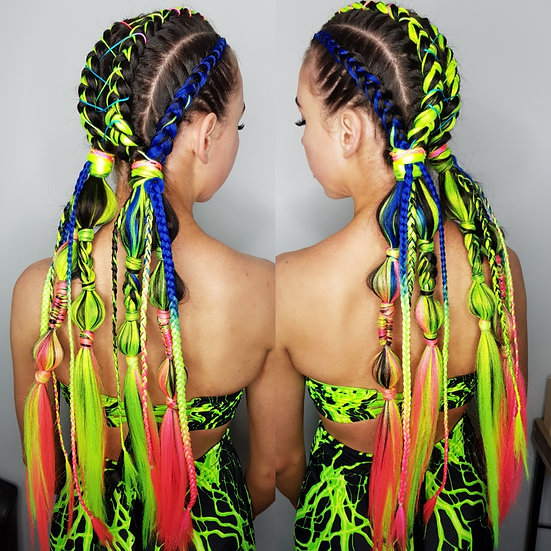Neon Ombre Braiding Extensions