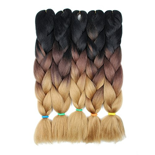 Black Brown Blonde Ombre Braiding Extensions