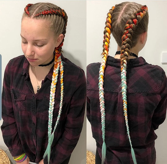 Safari Sunrise Ombre Braiding Extensions