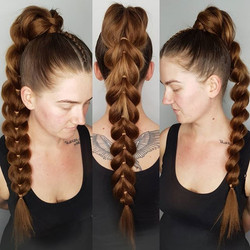 Faux Pony (can inc top braid)