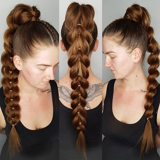 Light Brown Braiding Extensions