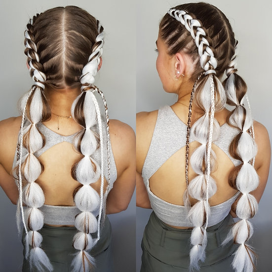 White Synthetic Braiding Extensions