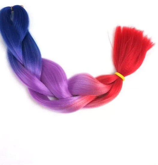 Blue Purple Red Ombre Braiding Extensions