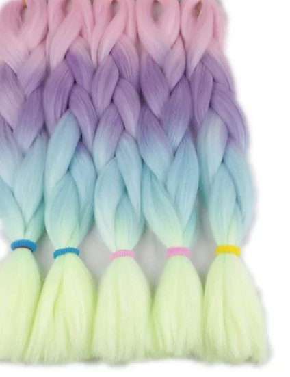 Pastel Dreams Ombre Braiding Extensions