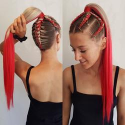 3-5 Braids Ponytail Style