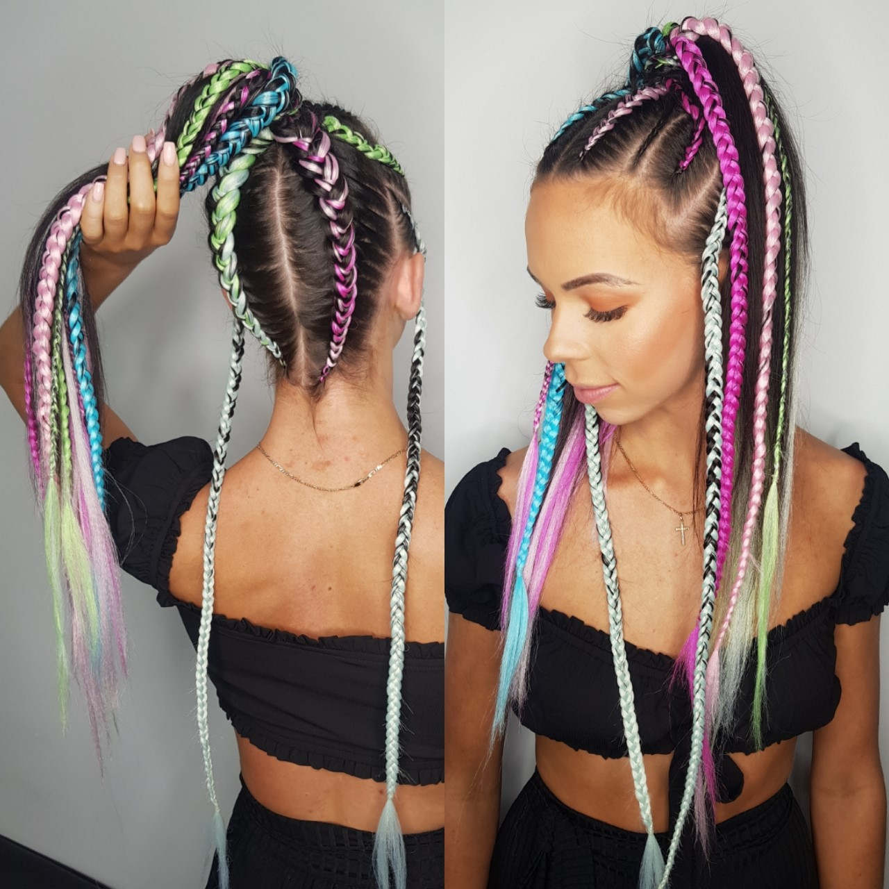 9-12 Braids Ponytail Style