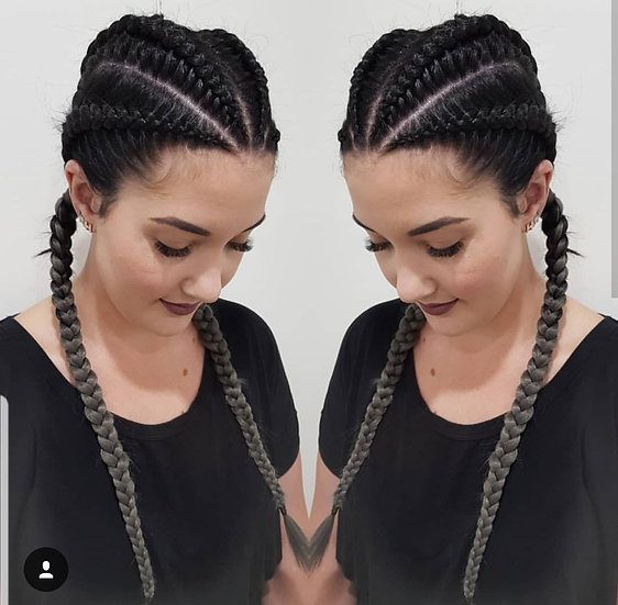 Black to Dark Grey Ombre Braiding Extensions