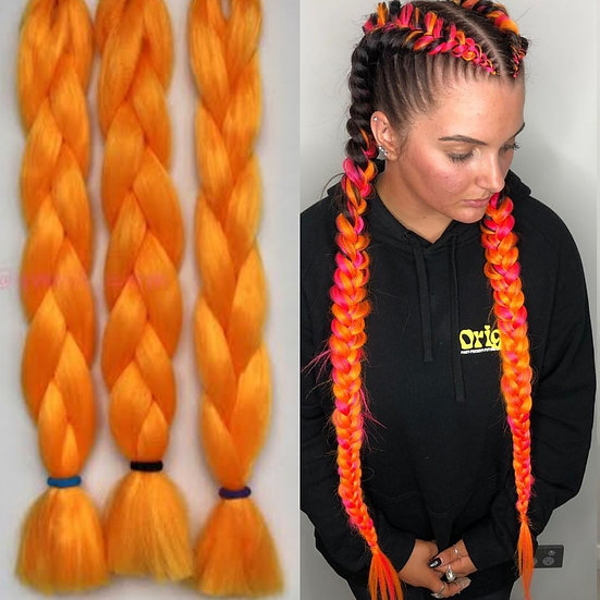 Neon Orange Braiding Extensions