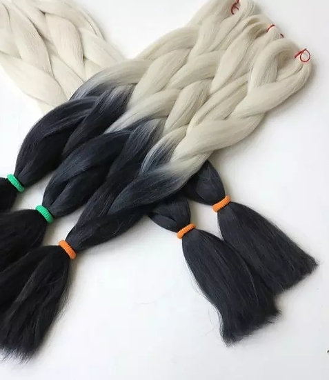 Blonde to Black Ombre Braiding Extensions
