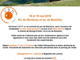 Sortie montagne lac de Bareilles et pic de Montious