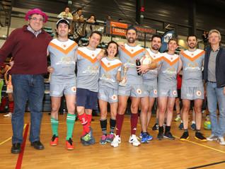 La section rugby victorieuse du Tournoi Indoor de Pessac