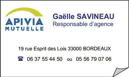 5474c428520979 Pour profiter de toutes ces offres ou obtenir des renseignements, contactez  au plus vite Gaëlle SAVINEAU, votre conseillère Apivia Mutuelle.
