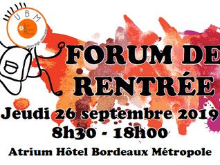 Forum de rentrée UBM