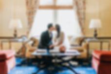 Asian Bride and Groom kissing - Columbus Ohio Wedding Photography