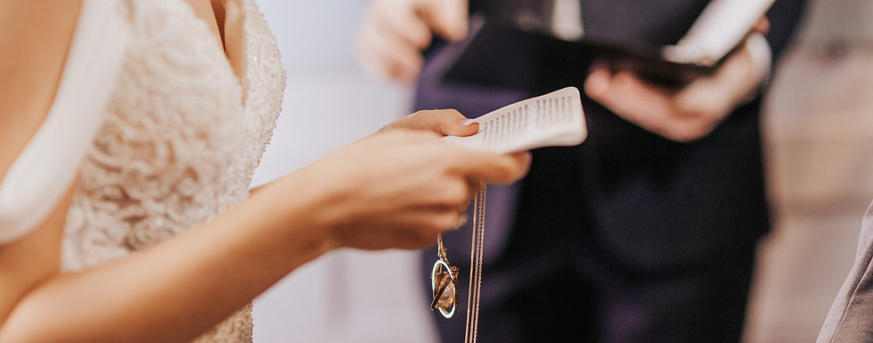 Bride Reading Vows - Columbus Ohio Wedding Photography