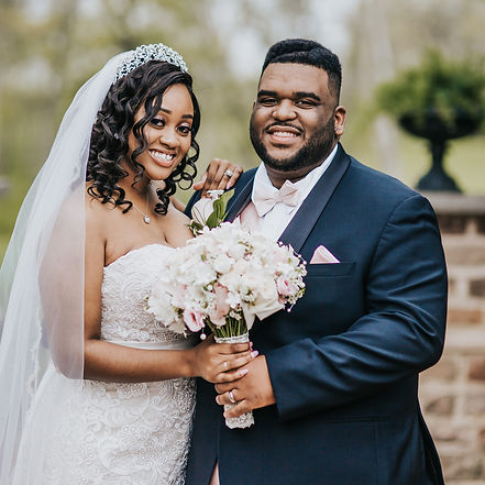 African American Bride and Groom - Columbus Ohio Wedding Photography