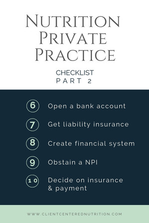 How to Start a Nutrition Private Practice - Part 2