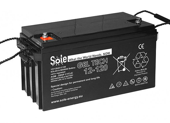 Gel akumulator Geltech 160Ah, 12V