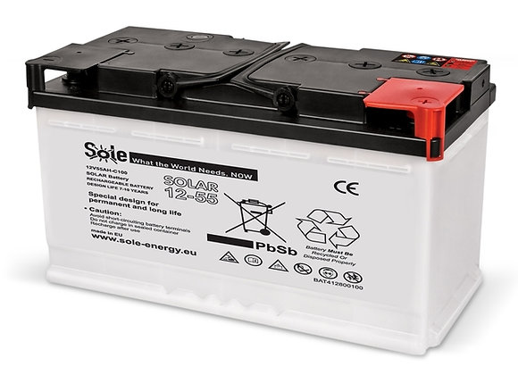 Solarni akumulator SOLE 55AH 12V