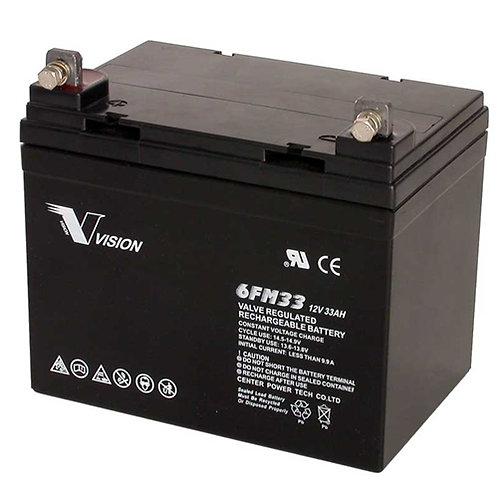 Gel akumulator VISION AGM 33Ah, 12V