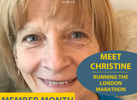 We'll be cheering on Rossis Member Christine who's running the London Marathon
