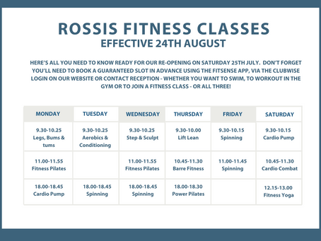 UPDATED TIMETABLE EFFECTIVE 24TH AUGUST