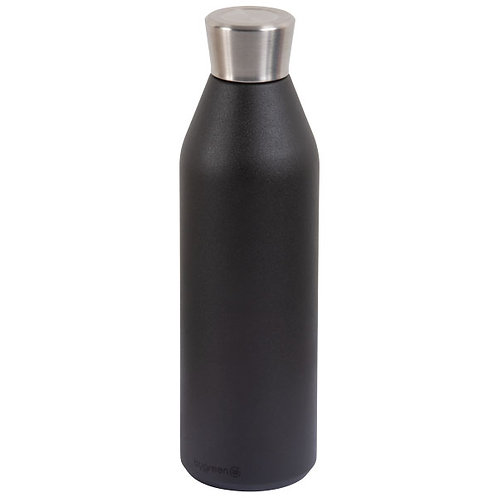 GO GREEN 'REUSABLE' WATER / BEER BOTTLE - 304 S/STEEL 600ml DUAL WALL INSULATED