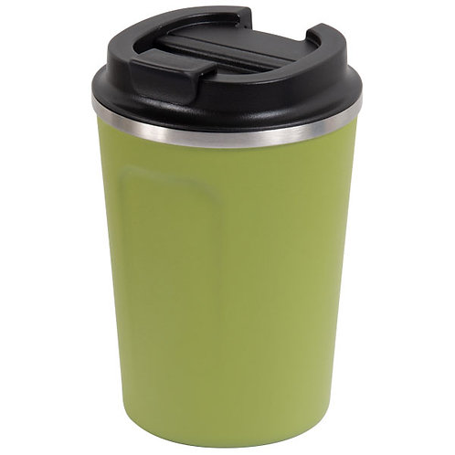 GO GREEN 'REUSABLE' COFFEE CUP & BEER SIPPER - 304 S/STEEL 380ml DUAL WALL