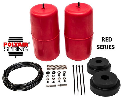 POLYAIR 'RED Series' COLORADO7, TRAILBLAZER & MU-X RAISED Height AIR BAG KIT