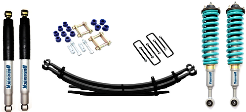 "DURASHOCK/DOBINSON/RAW 4x4 COMBO GAS 2012-2020 D-MAX TFS85 +2""&+2"" LIFT KIT"