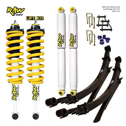 """RAW NITRO GAS/KINGS/RAW 4x4 COMBO GAS 2012+ ISUZU D-MAX +2"""" LIFT KIT"""